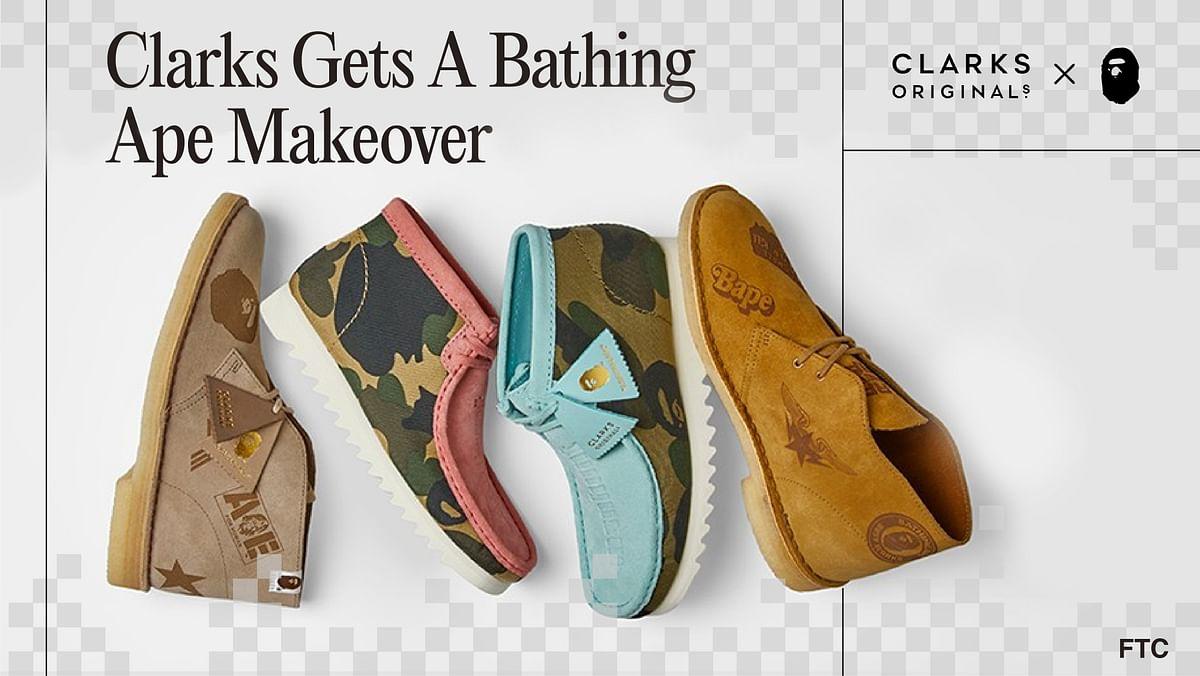 Clarks Gets A Bathing Ape Makeover
