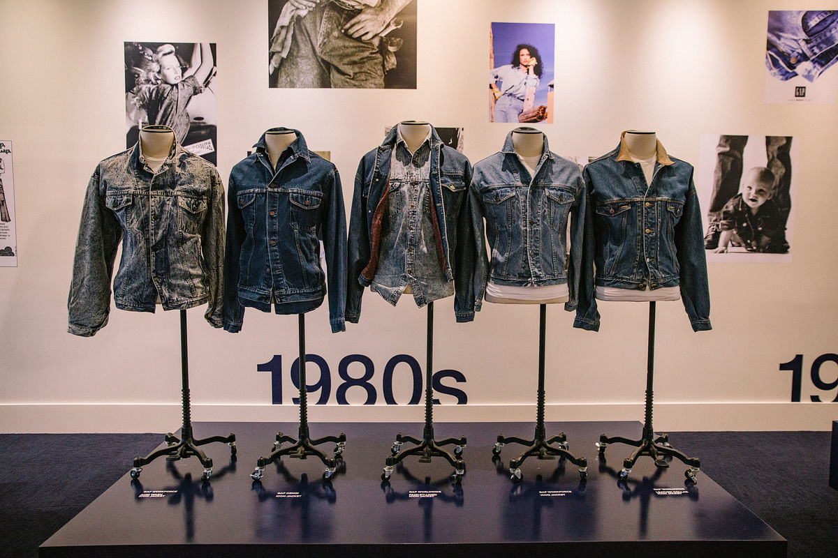Gap's Denim Through The Decades collection in the archives at NYC HQ