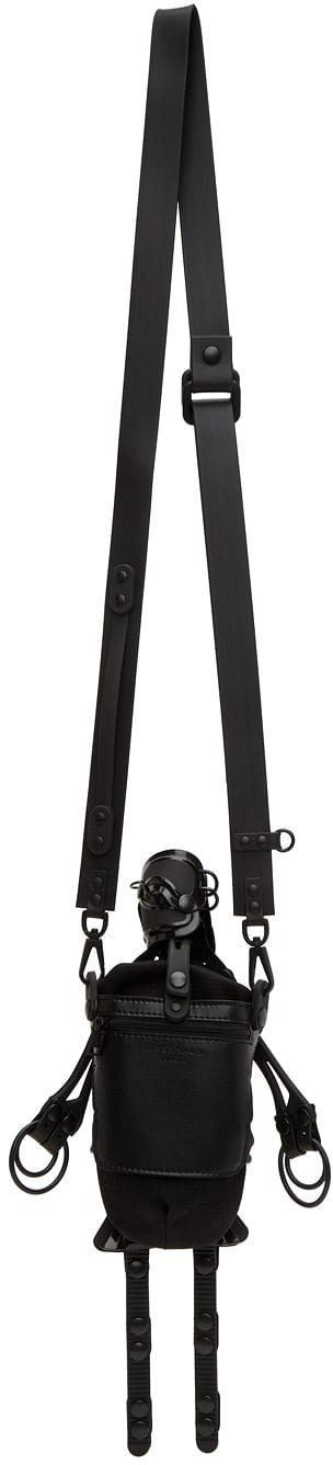 Rear view of Black Robot Messenger Bag