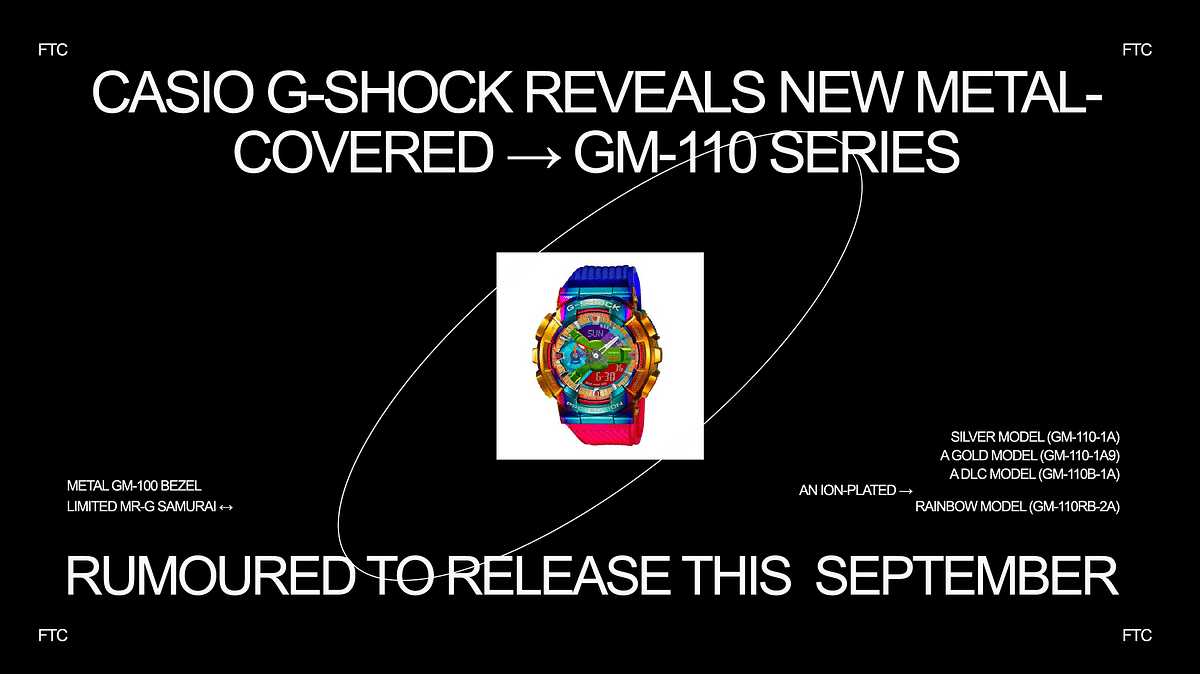 Casio G-Shock Reveals New Metal-Covered GM-110 Series