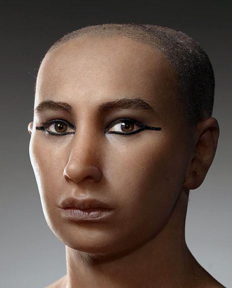 3D reconstruction of Tutenkhhamen's face