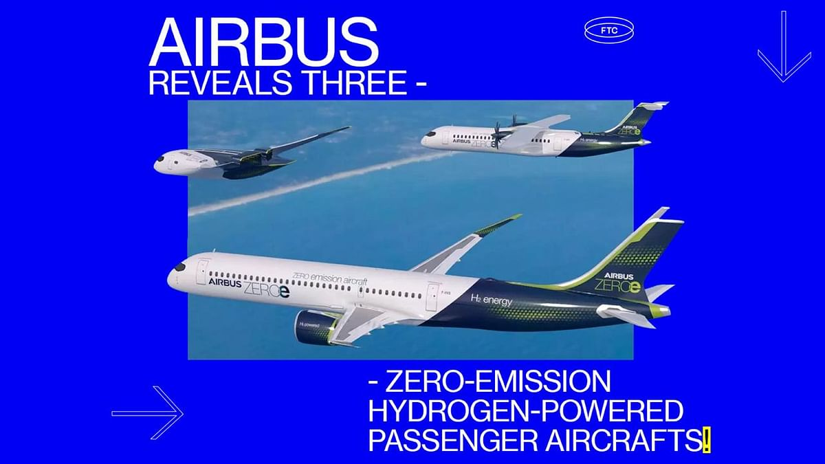 Airbus Reveals Three Zero-Emission Hydrogen-Powered Passenger Aircrafts
