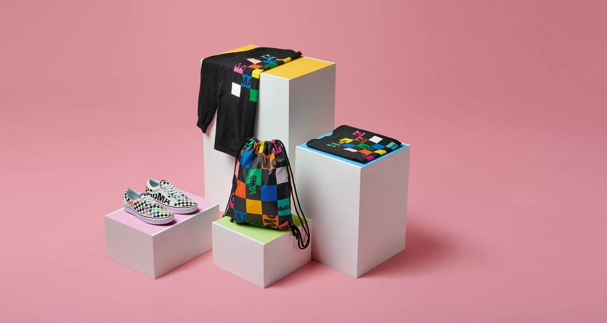 Apparel inspired by the museum's visual identity