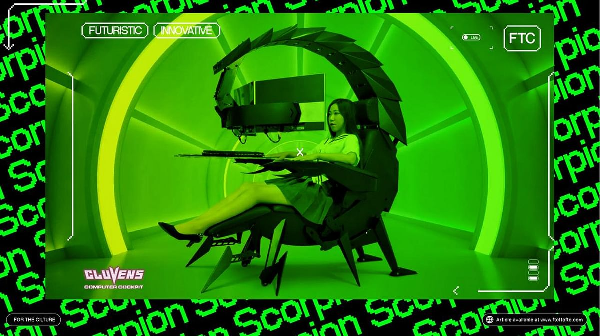 Cluvens Introduces An Arachnid Inspired Gaming Chair 'Scorpion'