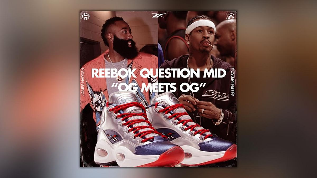 Reebok Brings Back Allen Iverson And James Harden For A Mid Question Collab