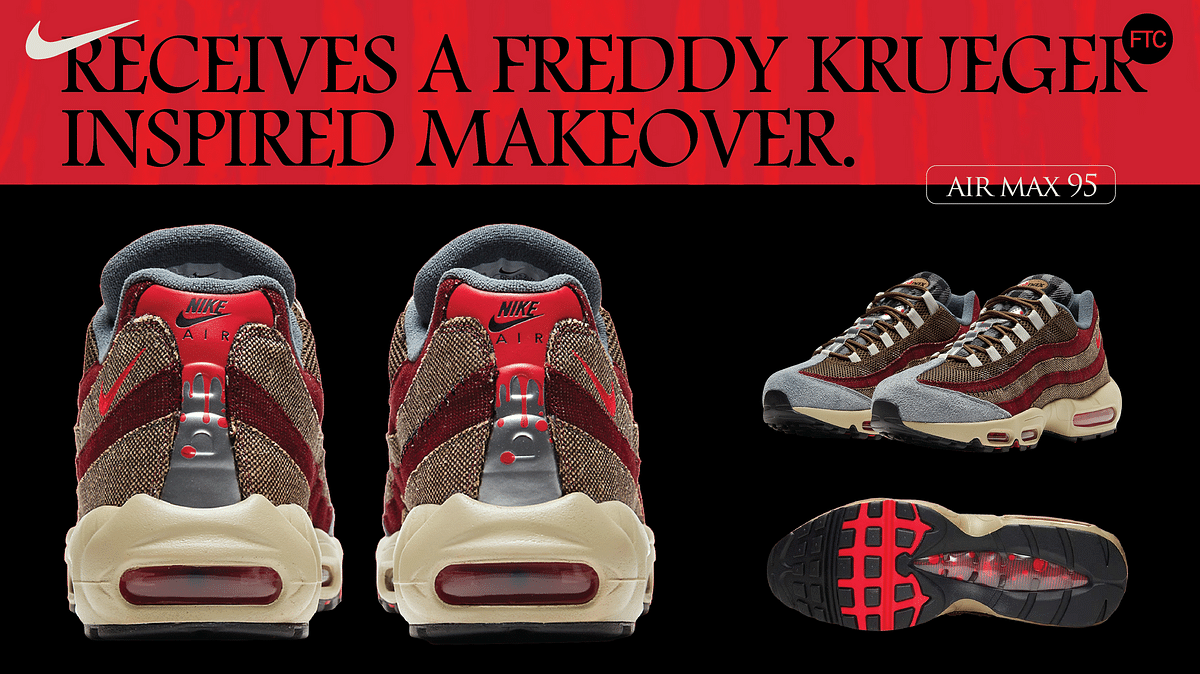 Air Max 95 Receives A Freddy Krueger Inspired Makeover