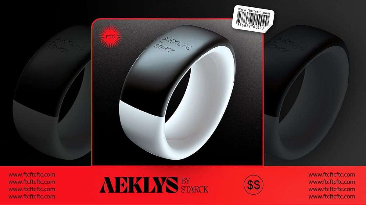 Philippe Starck's AEKLYS Ring Stores All Your Cards for Contactless Payment