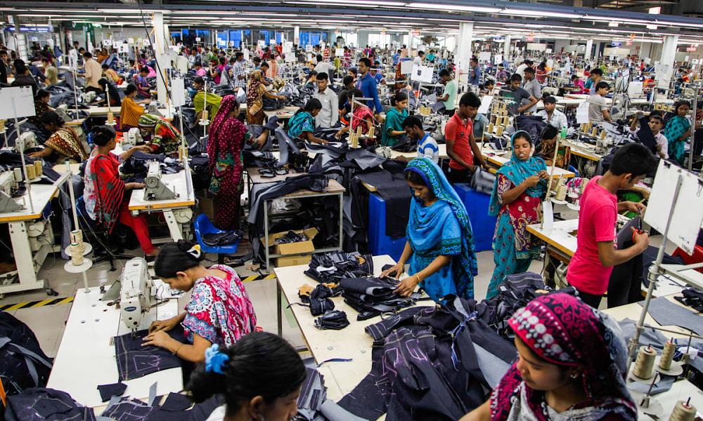 Inside a sweatshop