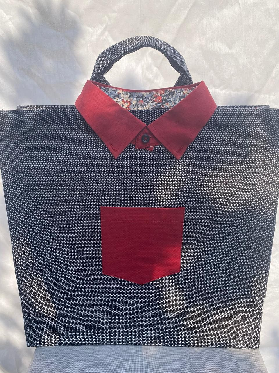 Tote bag made from shirts