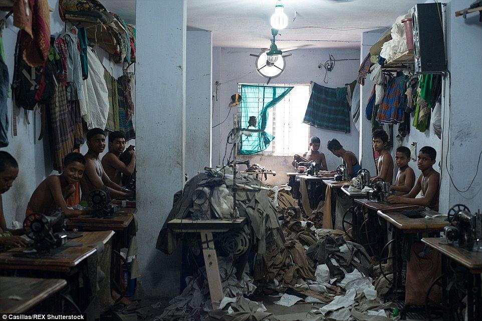A sweatshop in Bangladesh
