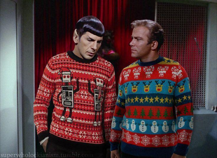 Ugly Christmas Sweaters on Star Trek
