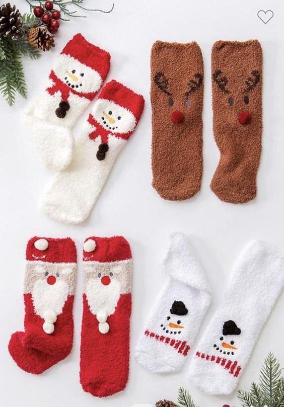 Fuzzy Xmas Socks