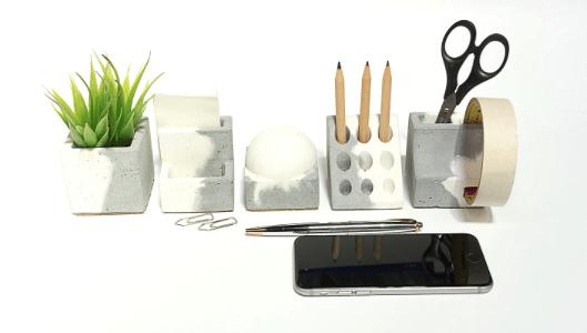 Concrete Penta Organiser - Dual Tone Collection