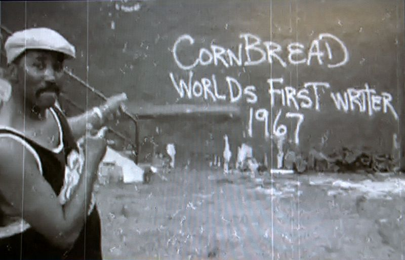 Cornbread, touted as the world's first graffiti artist.