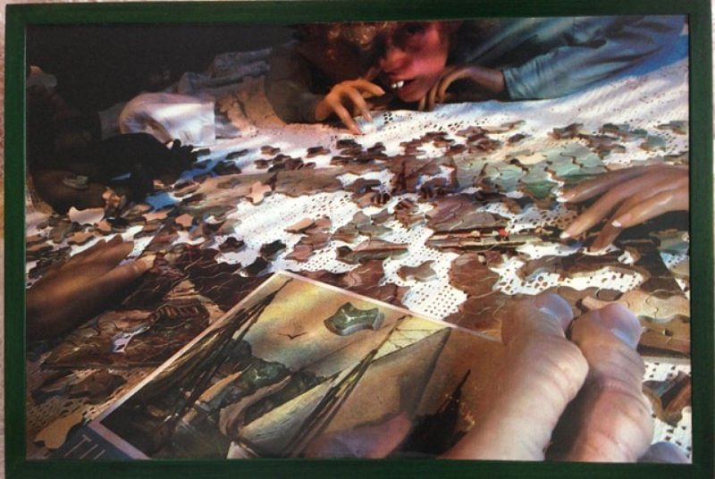 Untitled (Puzzle) by Cindy Sherman, one of the least horrifying pieces of Abject art from her collection.