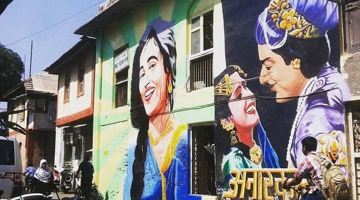 Ranjit Dahiya's murals, which were painted over.