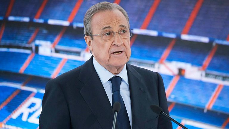 Real Madrid president Florentino Perez, touted as the brains of the operation.