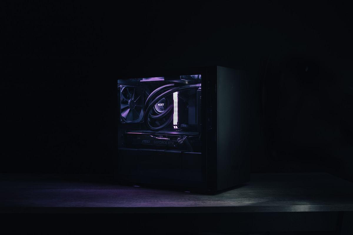 A fully built custom PC
