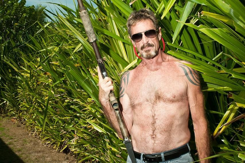 John McAfee was known to be eccentric and flamboyant but was also considered paranoid