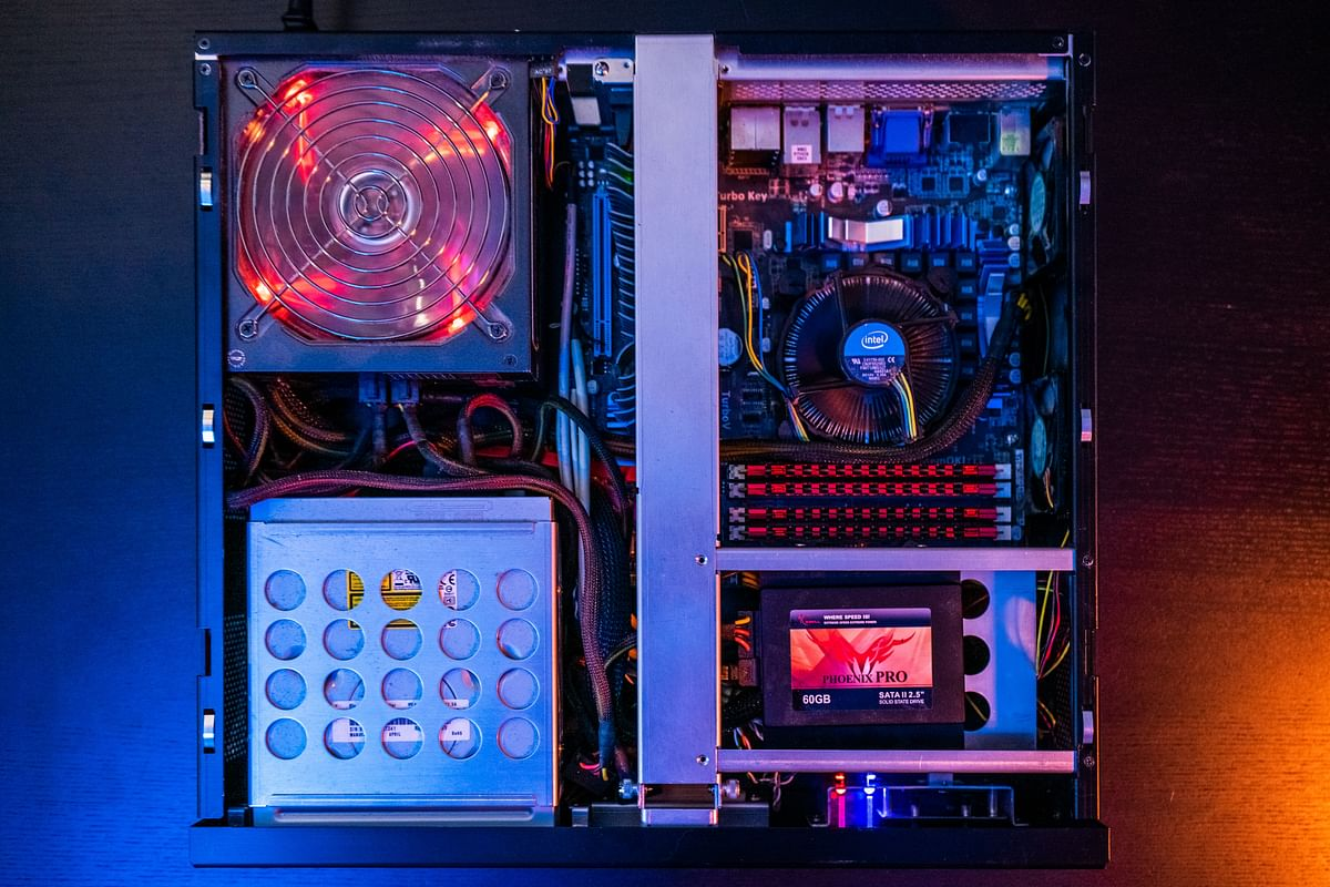 The inside of a PC