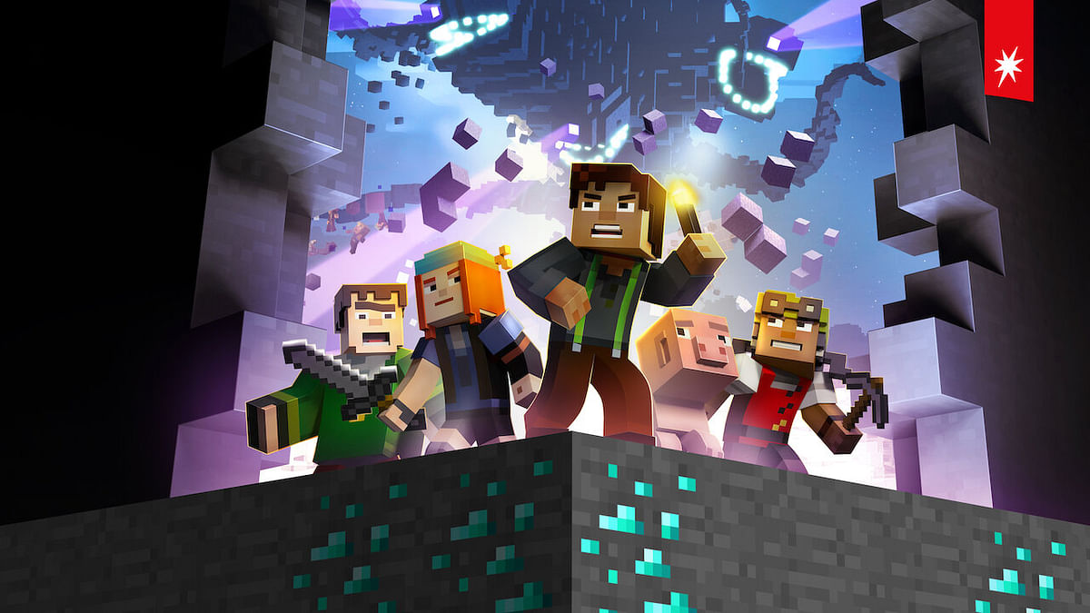 Minecraft: Story mode, an interactive show where you get to choose what the protaginist does and is based on the famous game Minecraft