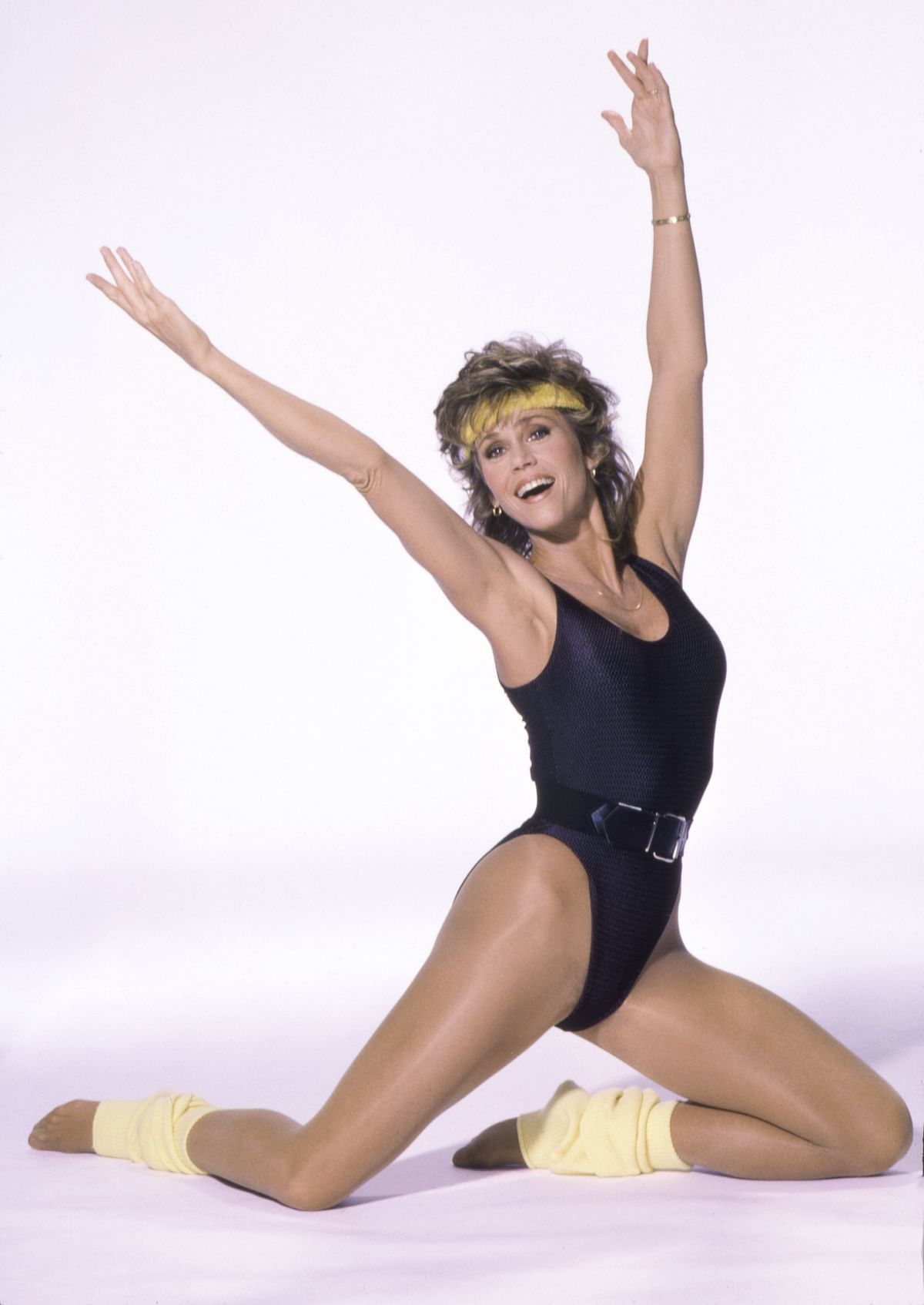 """<div class=""""paragraphs""""><p>Jane Fonda in her series of workout videos</p></div>"""