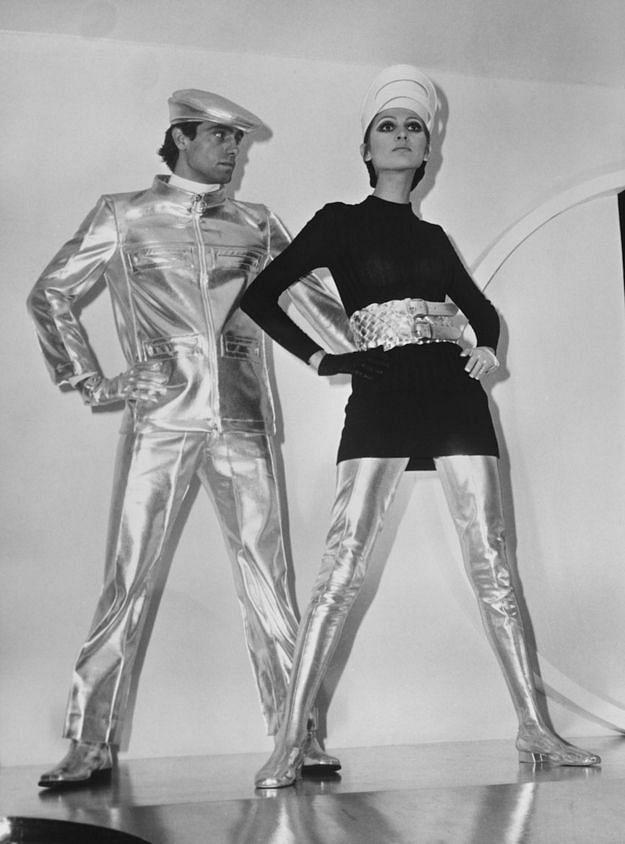 """<div class=""""paragraphs""""><p>Pierre Cardin's silver vinyl</p></div>"""