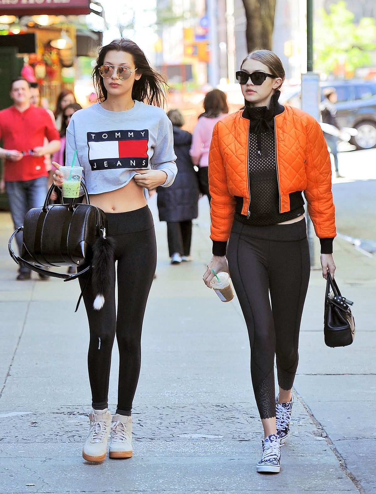 """<div class=""""paragraphs""""><p>The Hadid sisters&nbsp; out and about in athleisure</p></div>"""