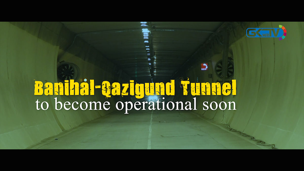 Banihal-Qazigund Tunnel to become operational soon