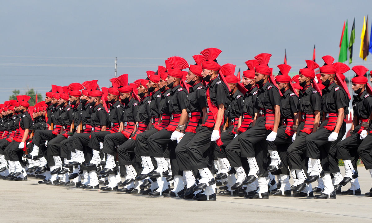 The attestation parade which depicts the graduation of a recruit into a young soldier was reviewed by Lt General DP Pandey, General Officer Commanding 15 Corps, on Friday 25 June 2021.