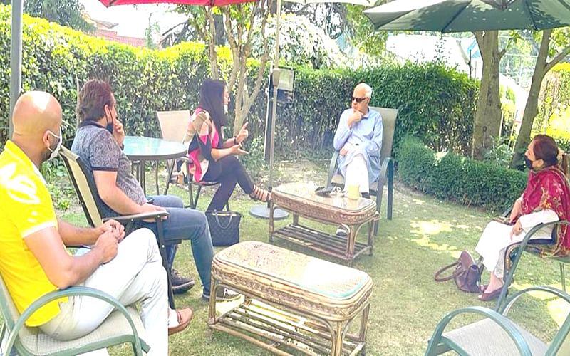 Afghan MP Naheed Fareed calls on Farooq Abdullah