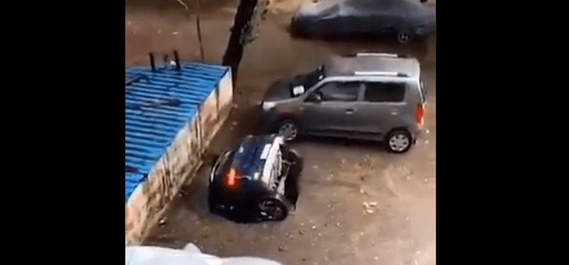 Watch: Car entirely swallowed by sinkhole in Mumbai, scary video goes viral