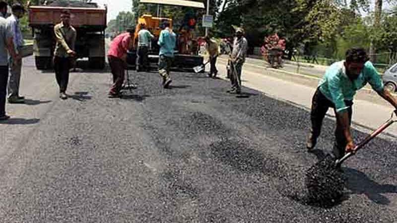 Macadamisation commences on Hajin-Ajas road