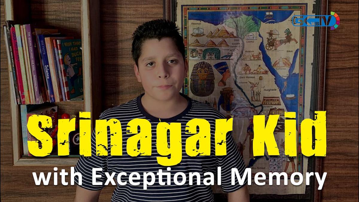 Srinagar Kid with Exceptional Memory