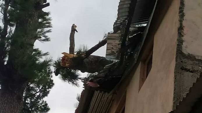 Gusty winds damage houses, power transmission lines in Kashmir, Chenab valley