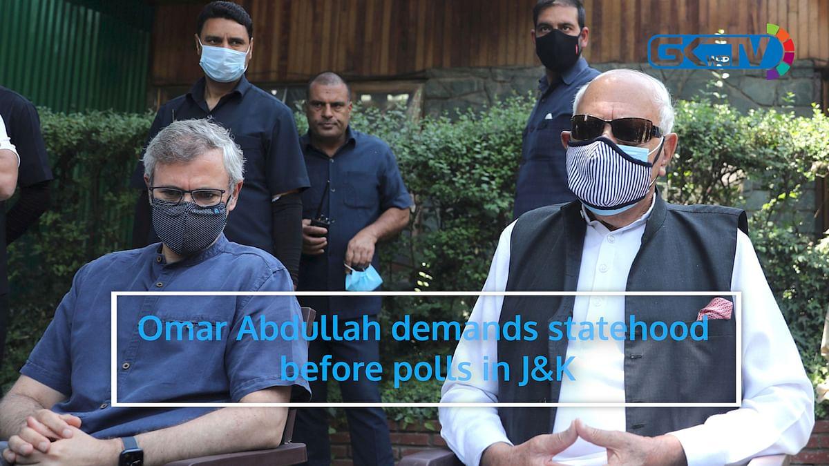 Omar Abdullah demands statehood before polls in J&K