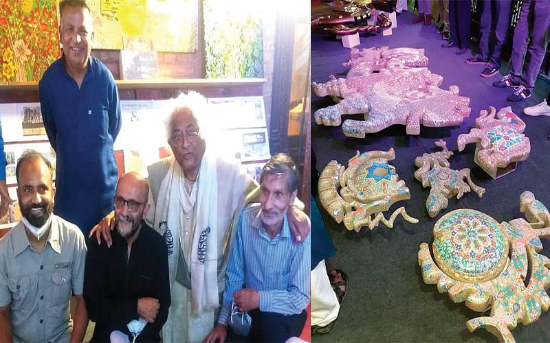 Kashmiri paper mache to adorn corporate house in Ahmedabad