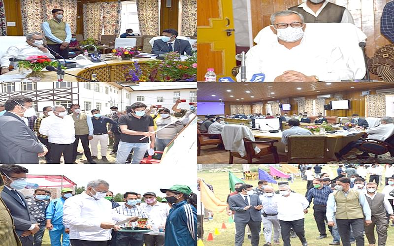 Advisor Farooq Khan reviews Covid mitigation efforts in Kulgam