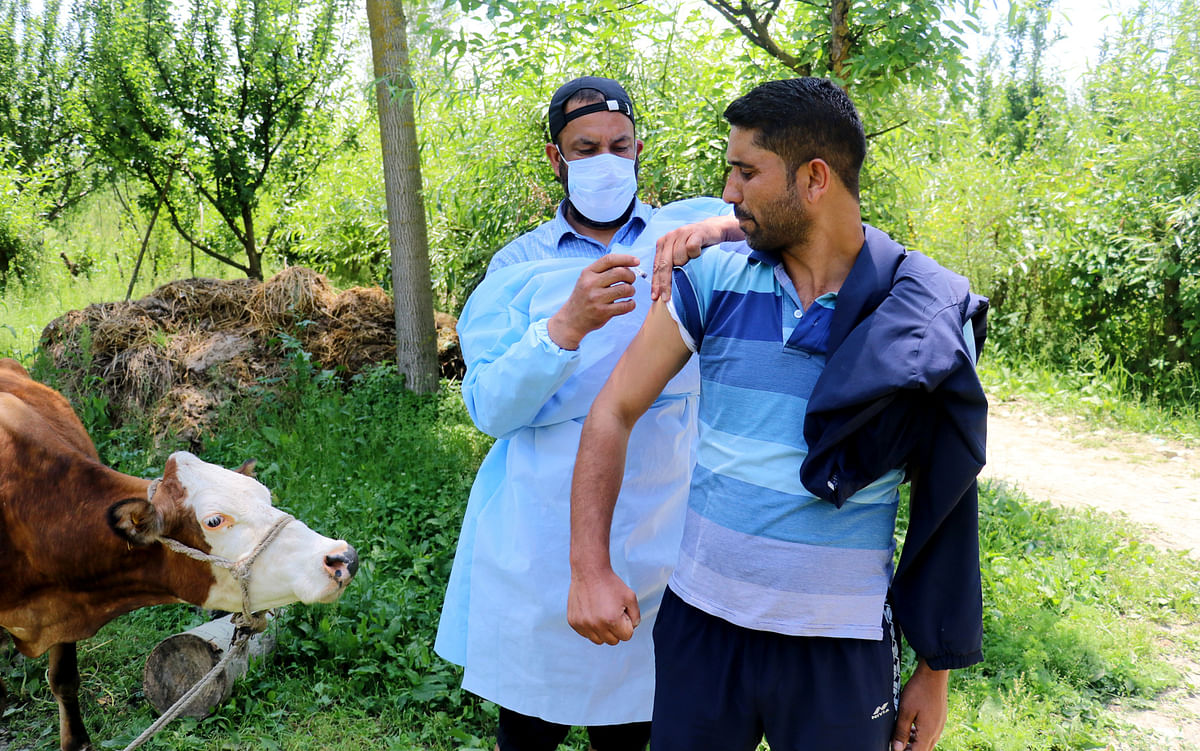 J&K on Saturday reported below 1500 COVID-19 cases after a gap of 49 days.