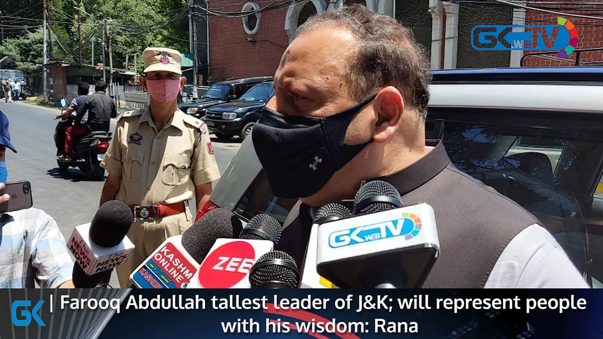 Farooq Abdullah tallest leader of J&K; will represent people with his wisdom: Rana