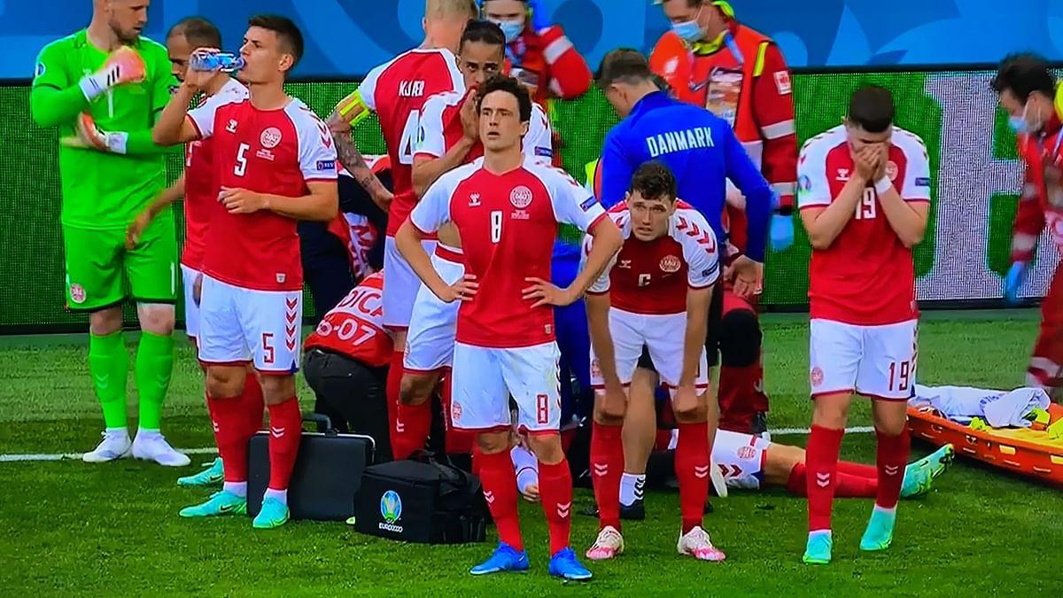 Watch: Match suspended at Euro 2020 after Denmark midfielder Christian Eriksen collapses on field