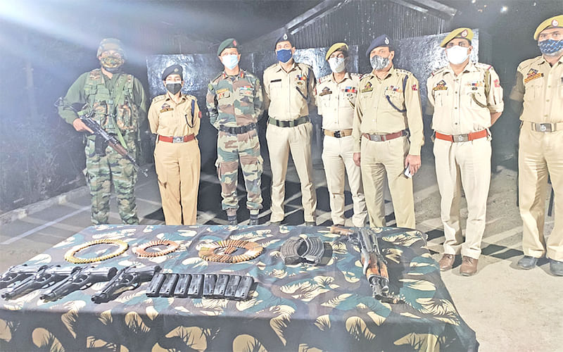 Arms, dropped using aerial vehicle, recovered during CASO: SP Rajouri