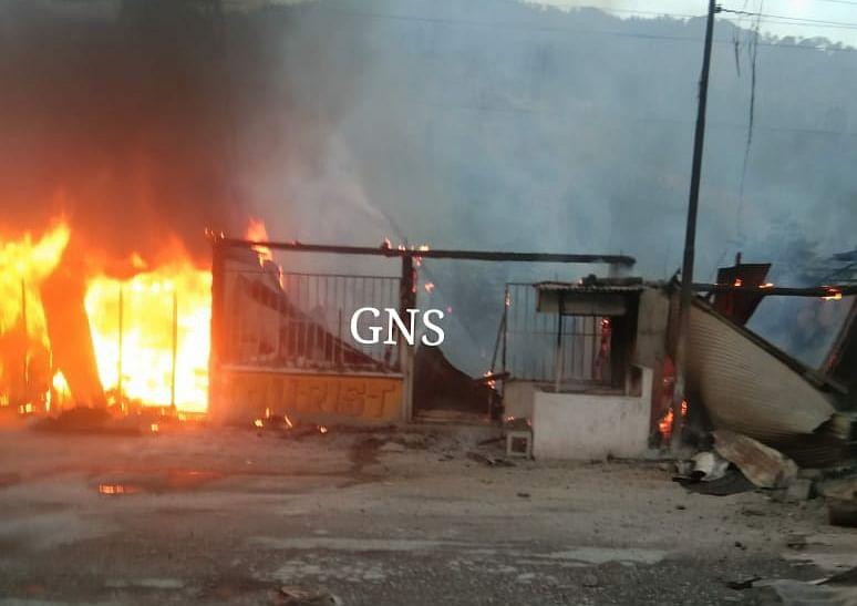 Five shops gutted in fire in J&K's Ramban