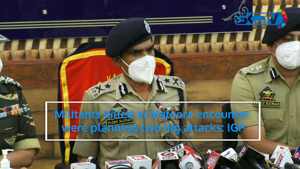 Militants killed in Maloora encounter were planning two big attacks: IGP