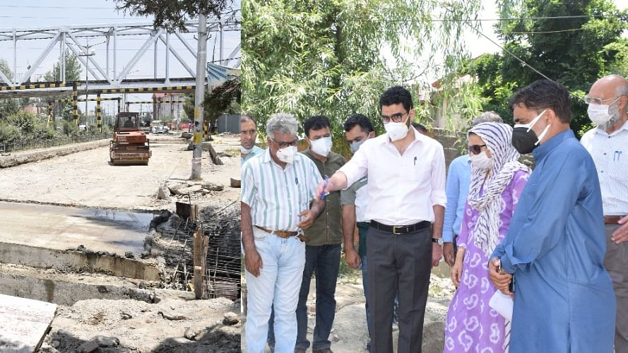 CEO ERA inspects work on Peerbagh-Humhama concrete Rigid Pavement road