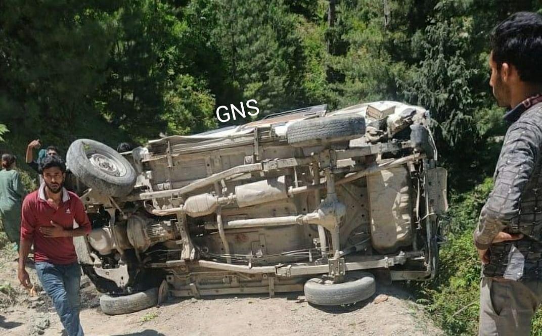 Infant, elderly killed, eight others injured in Kupwara accident