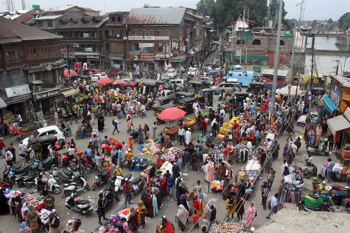 Easing of Covid restrictions helps traders on Eid eve in Kashmir
