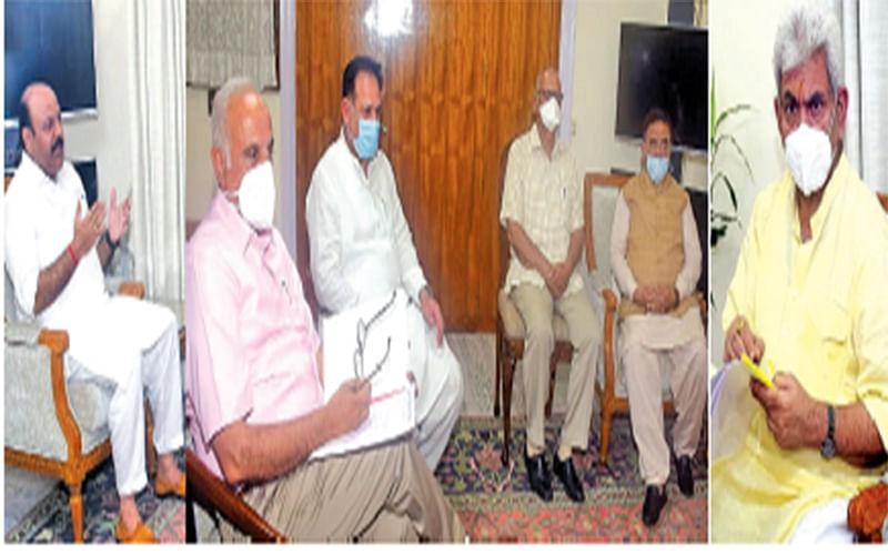 Former MLCs, delegation of GurjarDesh Charitable Trust call on LG Sinha
