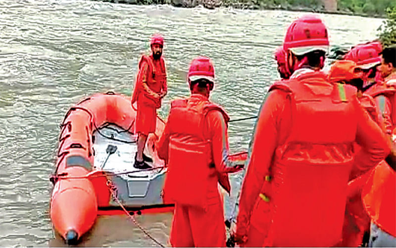 Mehar car accident   Day 4: NDRF search operation continues