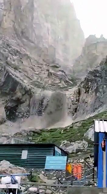 Cloudburst near Amarnath cave